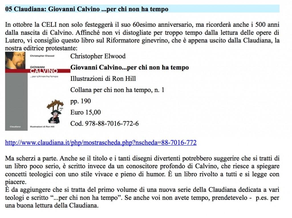 Libro su Calvino